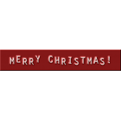 Merry Christmas Word Strip - Red