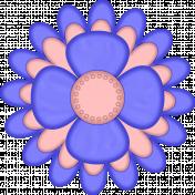 Flower blue and peach
