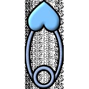 Pin Heart Blue