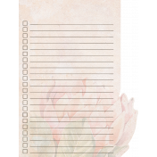 Pretty Botanics List Journal Card