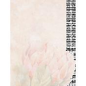 Pretty Botanics List Journal Card - No Lines