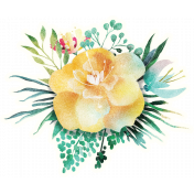 Mixed Media Play - Floral Sticker 1