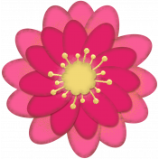 Mixed Media Play - Large Pink Flower 1