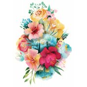 Mixed Media Play - Floral Sticker 2
