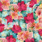 Mixed Media Play - Large Floral Pattern Paper