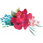 Mixed Media Play - Floral Sticker 4