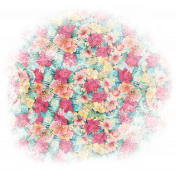 Mixed Media Play- Floral Pattern Transfer (Transparent)