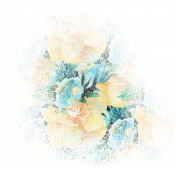 Mixed Media Play- Floral Pattern Transfer 2 (Transparent)