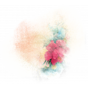Mixed Media Play- Floral Pattern Transfer 3 (Transparent)