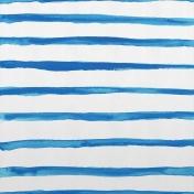 Paper - Bright Primary Watercolor Stripe - Blue
