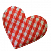 Red And White Plaid Fabric Heart