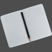 Open Notebook & Pencil