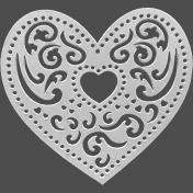 Filigree Metal Heart