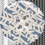 Winter Day Snowflake Button
