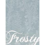 Winter Day Journal Card Frosty 3x4