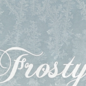 Winter Day Journal Card Frosty 4x4