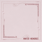 Winter Day Journal Card Winter Memories 4x4