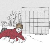 Winter Day Journal Card Calendar Blank 4x4