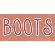 Winter Day Word Art- Boots