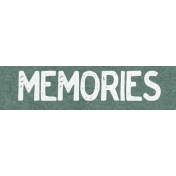 Winter Day Word Art- Memories