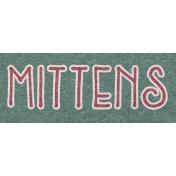 Winter Day Word Art- Mittens
