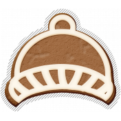 Winter Day Gingerbread Cookie Hat