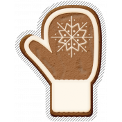 Winter Day Gingerbread Cookie Mitten