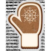 Winter Day Gingerbread Cookie Mitten