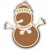 Winter Day Gingerbread Cookie Snowman