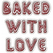 Winter Day Cookies Word Art Baked With Love