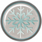 Winter Fun- Snow Baby Snowflake Brad