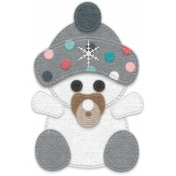 Winter Fun- Snow Baby Felt Snow Baby