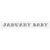 Winter Fun- Snow Baby Word Art January Baby