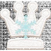 Winter Fun- Snow Baby Felt Crown Blue Snowflake