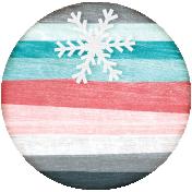 Winter Fun- Snow Baby Round Tag Striped Snowflake