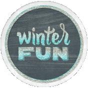 Winter Fun- Snow Baby Round Tag Glitter Winter Fun
