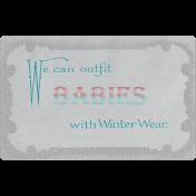 Winter Fun- Snow Baby Vintage Ephemera Winter Wear