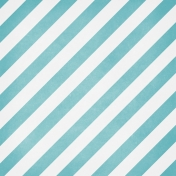 Winter Fun- Snow Baby Teal Stripes Paper