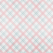 Winter Fun- Snow Baby Pink and Blue Plaid Paper