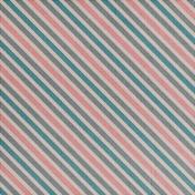 Winter Fun- Snow Baby Vintage Stripes Paper