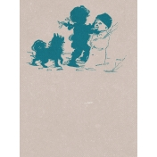 Winter Fun- Snow Baby Building Snowman Journal Card 3x4
