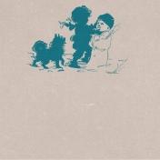 Winter Fun- Snow Baby Building Snowman Journal Card 4x4