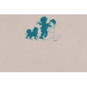 Winter Fun- Snow Baby Building Snowman Journal Card 4x6