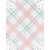 Winter Fun- Snow Baby Plaid Journal Card 3x4