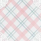 Winter Fun- Snow Baby Plaid Journal Card 4x4