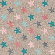 Winter Fun- Snow Baby Stars Journal Card 4x4
