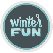 Winter Fun- Snow Baby Round Tag Glitter Winter Fun Print