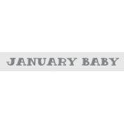 Winter Fun- Snow Baby Word Art January Baby Print