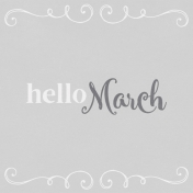 In the Pocket Hello Card- March