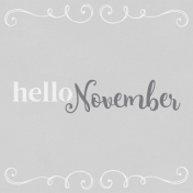 In the Pocket Hello Card- November